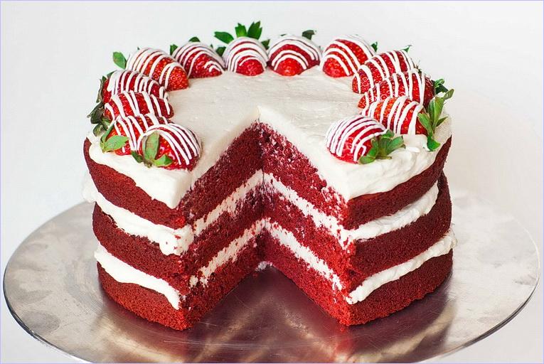 Украшение тортика-сердце с пошаговым фото