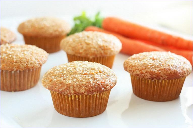 Морковные кекс с фото