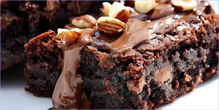 Шоколадный брауни с орехами рецепт с фото